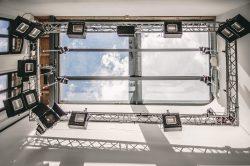 Glasdach von Studioloft mit Tageslicht in Leipzig